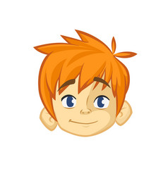 Cartoon small blond boy vector