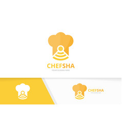 Chef hat and wifi logo combination kitchen vector