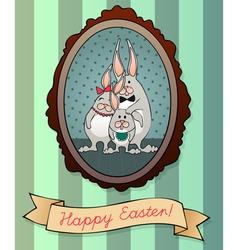 Colorful Easter Greeting Card vector image vector image