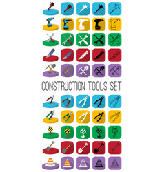 Construction tools in different style outline vector