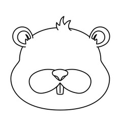 Cute beaver character icon vector