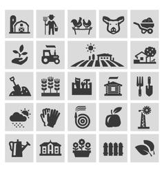 Farm logo design template gardening vector