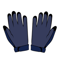 gloves icon cartoon vector image vector image