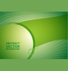 green abstract background with copy-space vector image