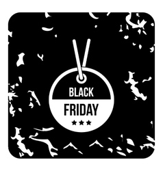 Label black friday icon grunge style vector