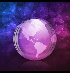 Luminescent snow globe vector image