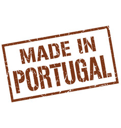 Made in portugal stamp vector
