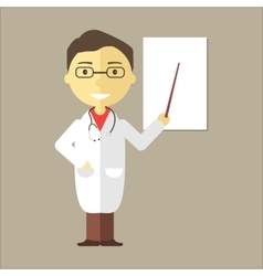 Male Doctor with Stethoscope vector image vector image