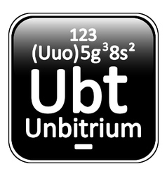 Periodic table element unbitrium icon vector