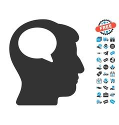 Person thinking icon with free bonus vector