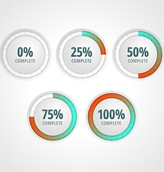 progress bars for website and applications vector image