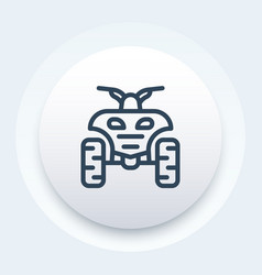 Quad bike linear icon vector