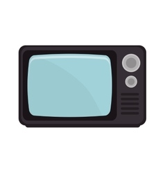 Retro television with buttosn vector