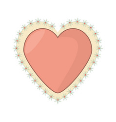 Romantic heart floral decoration image vector