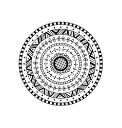 Round mandala ethnic decorative ornament vector