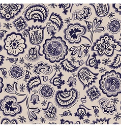 seamless abstract floral pattern vintage vector image vector image