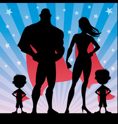 superhero family boys vector image vector image