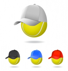 tennis mascot vector image