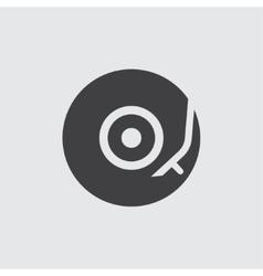 Vinyl turntable icon vector