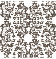 Vintage damask pattern ornament imperial style vector