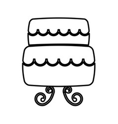 Wedding cake isolated icon vector