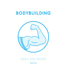 Sport and fitness background vector