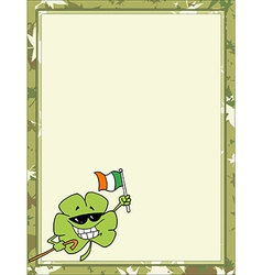 St patricks day cartoon border vector