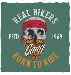 Real bikers poster vector