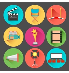 Movie and film icon set vector