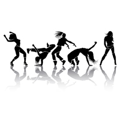 Girl dance vector
