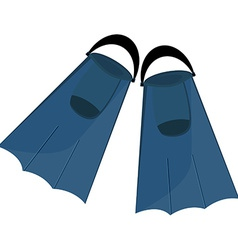 Blue flippers vector