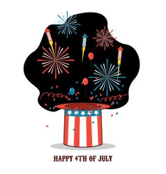 Isolated cartoon celebration of america independen vector