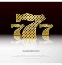 Casino 777 background vector