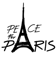 Peace for paris 2 vector
