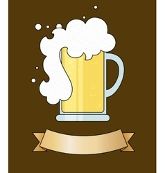 Tankard of beer vector