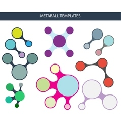 Metaball infographic templates vector