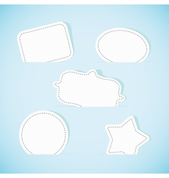 Set of paper banners vector