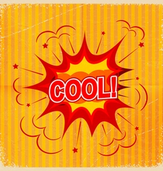 Cartoon blast cool background old-fashioned vector