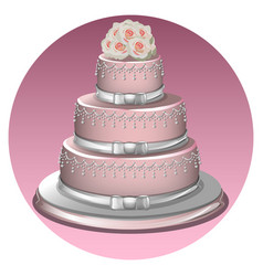 A stylish wedding cake vector