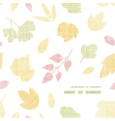 Abstract textile texture fall leaves frame corner vector