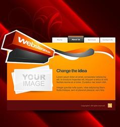 artistic webpage vector image vector image