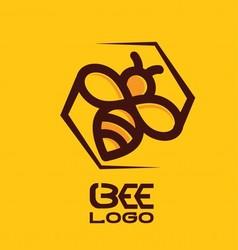 Bee logo 5 vector