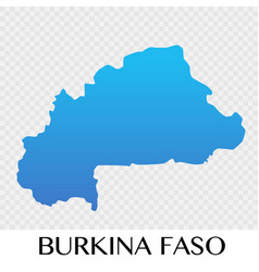 burkina faso map in africa continent design vector image