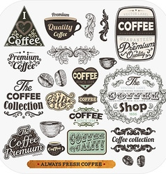 Coffee label set vector