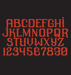 decorative vintage font time machine vector image vector image
