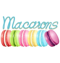 Different color of macarons vector