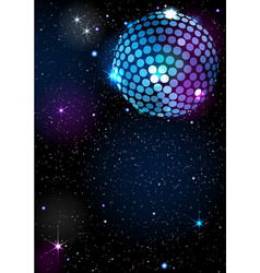 Disco ball background vector