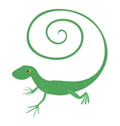 Fast lizard icon cartoon style vector