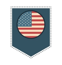 Flag symbol usa pennat vector