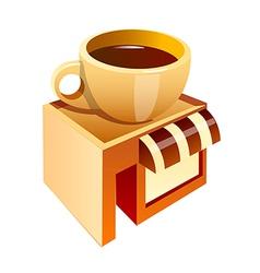 icon coffee shop icon vector image vector image